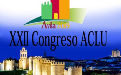 Congreso Regional de Urología de Castilla y León. 18 y 19 de Octubre de 2019. ÁVILA